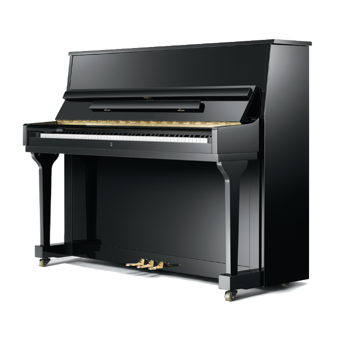 Elysian 115cm Traditional Upright Piano Black NEW